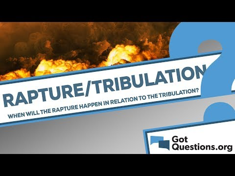 When is the Rapture going to occur in relation to the Tribulation?