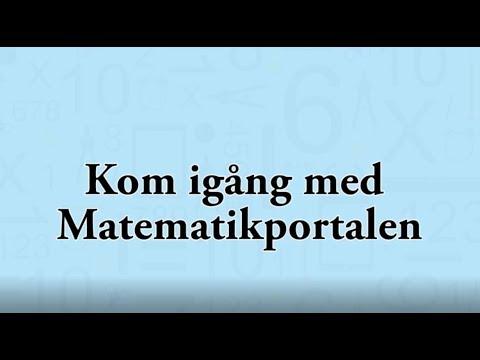 Kom igång med Matematikportalen