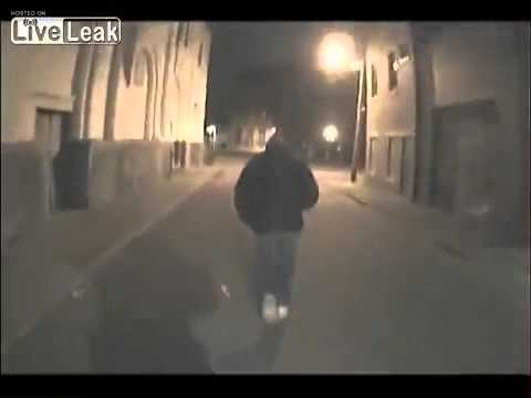 Man takes TASER from cop during foot pursuit