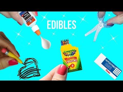 DIY EDIBLE School Supplies {Easy}! 5 MINIATURE Edible DIYs! Cool & Weird Crafts! Miniature How To