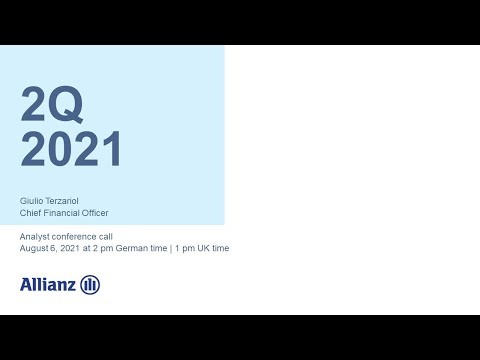 Allianz Group Analyst Conference Call on 2Q 2021