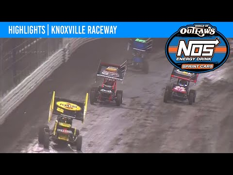 World of Outlaws NOS Energy Drink Sprint Cars Knoxville Raceway, August 13, 2021 | HIGHLIGHTS - dirt track racing video image