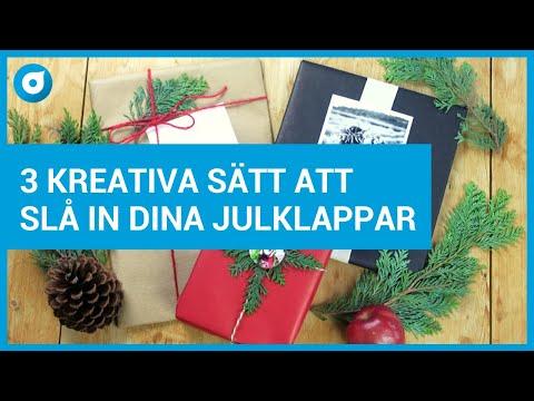 3 kreativa sätt att slå in dina julklappar - Smartphoto - Pysselminuten