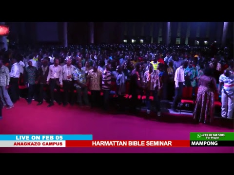 WATCH THE HARMATTAN BIBLE SEMINAR, LIVE FROM THE ANAGKAZO CAMPUS, MAMPONG- GHANA. DAY 1 SESSION 1.
