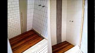 Teak Shower Tray Quality Mat Large Flooring Floor You