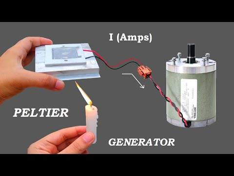 12V DC Peltier as Electric Generator for DC Motor - Measurement of Current, Voltage & Power
