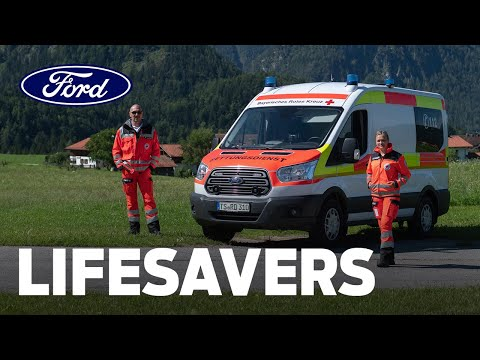 Lifesavers: Part of the Team with the Ford Transit Red Cross Ambulance
