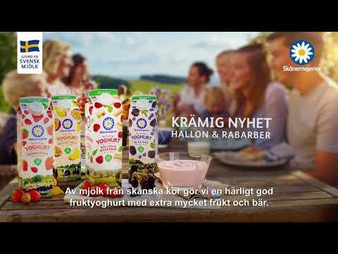 Skånemejerier Fruktyoghurt i fyra smaker