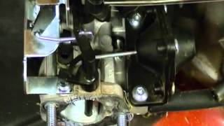 Carburetor Linkages and Springs on a Toro Recycler Kohler Courage XT  Lawnmower Engine