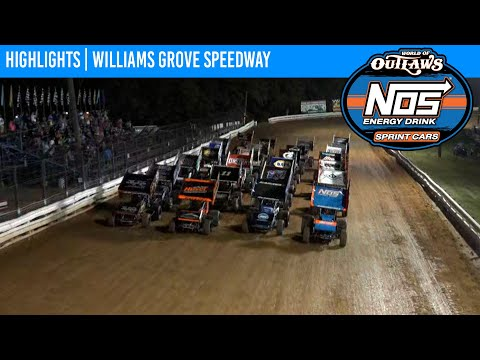World of Outlaws NOS Energy Drink Sprint Cars Williams Grove Speedway, July 23, 2021 | HIGHLIGHTS - dirt track racing video image