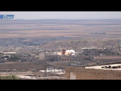 قصف عنيف للطيران الحربي التابع لميليشيا أسد على مدينة خان شيخون في إدلب