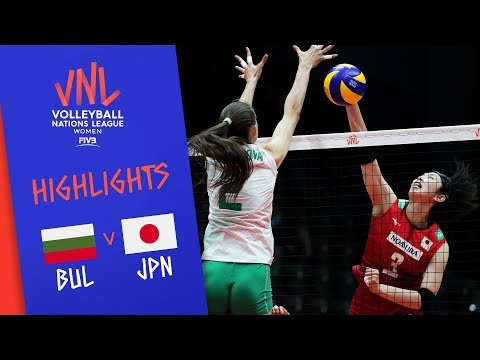Bulgaria vs. Japan - Game Highlights Women  Week 1   Volleyball Nations League 2019