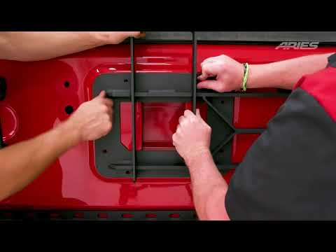 Aries Heavy Duty Swing Away Spare Tire Carrier Install for Jeep Wrangler JK