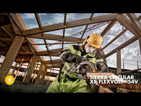 Conoce la Sierra Circular 54V XR FLEXVOLT™ de DEWALT