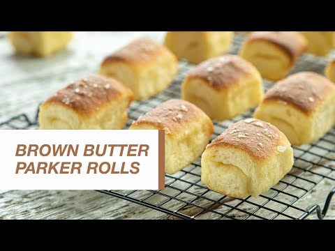 Brown Butter Parker House Rolls   Food Channel L Recipes