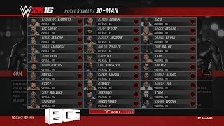WWE 2K16 30 Man Royal Rumble