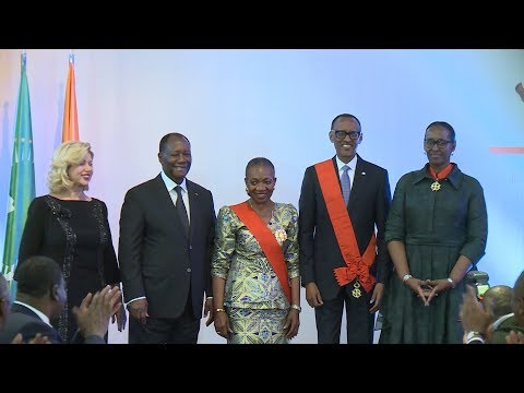 Dîner offert en l'honneur du couple Présidentiel rwandais