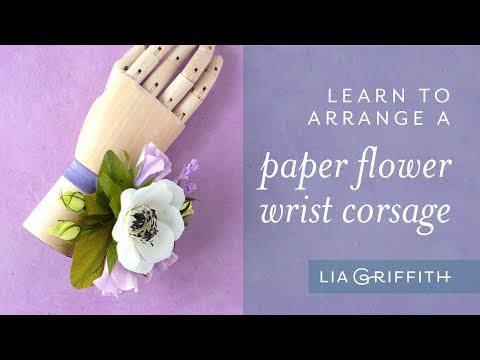 DIY Crepe Paper Wrist Corsage