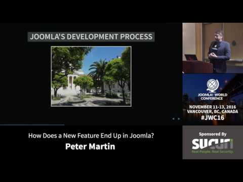 JWC 2016 - How does a new feature end up in Joomla? - Peter Martin