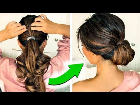 3 2 Minute Holiday Updo Hairstyles 2017 With Puff Easy