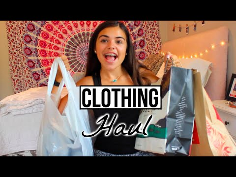 BACK TO SCHOOL CLOTHING HAUL || TRY ON