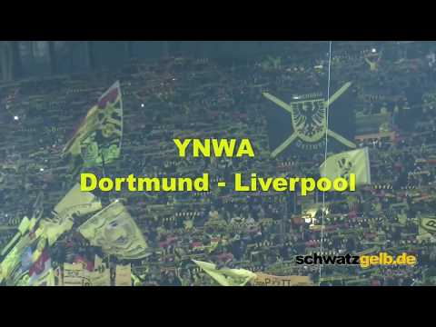 Dortmund and Liverpool Fans singing YNWA uncut 2016 YOU'LL NEVER WALK ALONE