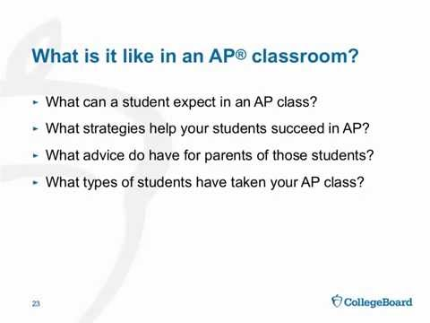 Introduction to Advanced Placement for Parents