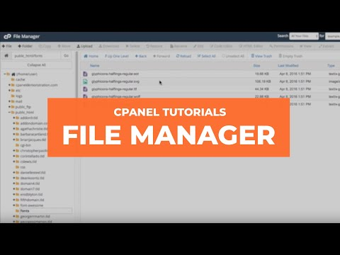 cPanel Tutorials: File Manager