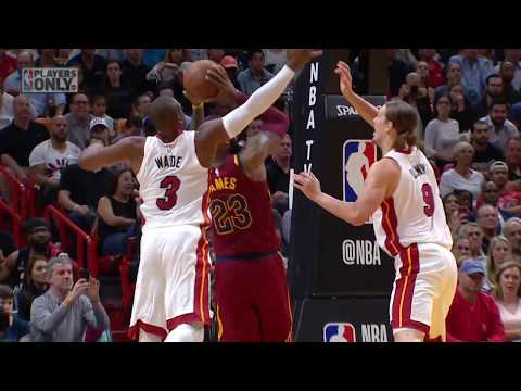 Relive All Of D-Wade & Lebron James' Blocks On Each Other!