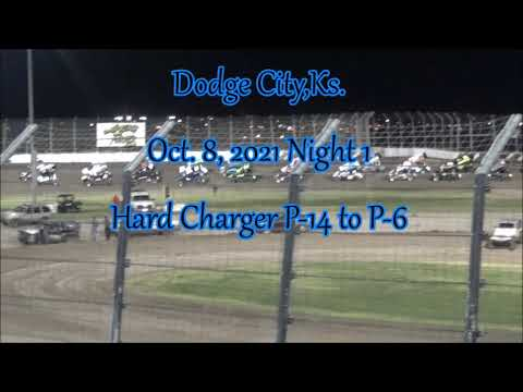 305 Sprint Car Natiional's Feature at Dodge City Raceway Park. Night 1 10/8/2021. - dirt track racing video image