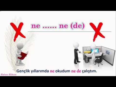 تعلم اللغة التركية (الدرس 15 من المستوى الثاني A2) (الروابط المتكررة Bağlaçlar)
