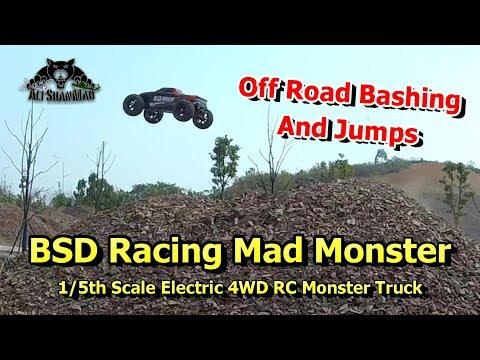BSD Racing Mad Monster Electric 4WD RC Truck off Road Bashing Jumps - UCsFctXdFnbeoKpLefdEloEQ