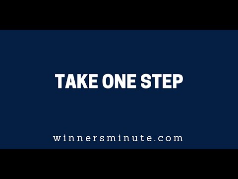 Take One Step  The Winner's Minute With Mac Hammond