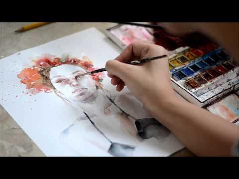 Portrait in Watercolor - Untitled