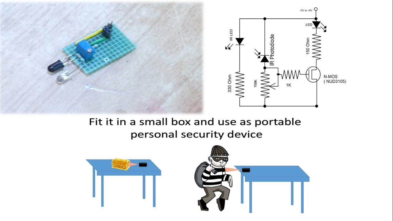 How To Make A Very Simple Infra Red Ir Proximity Sensor For Robots Infrared Circuit