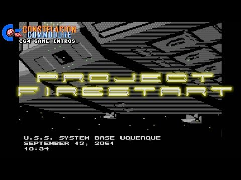 C64 Game Intro: Project Firestart (Dynamix/Electronic Arts, 1989)