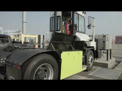 Cavotec电子卡车充电解决方案在长滩港