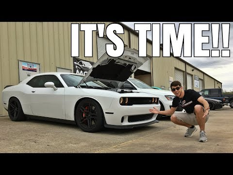 New Engine Parts, Tire Testing, & Wrap Prep for the Hellcat!
