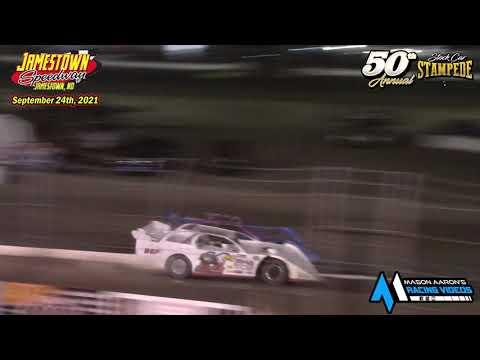 Jamestown Speedway WISSOTA Late Model A-Main (50th Jamestown Stock Car Stampede) (9/24/21) - dirt track racing video image