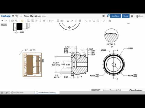 What's New in Onshape (January 13th, 2017) Drawing View Improvements