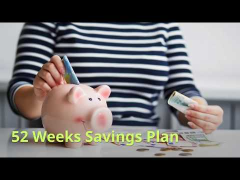 52 Week Money-Savings Plan