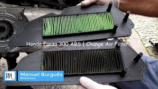 Cambiare il filtro aria Honda Forza 300 ABS