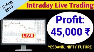 Intraday Live Trading | Profit: 45,000 ₹ | Intraday Trading