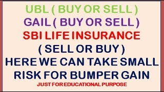 UBL GAIL  SBIL FNO STOCK WILL GIVE US GOOD BUYING OR SELLING OPPORTUNITY AFTER DOWN FALL JUST FOR ED