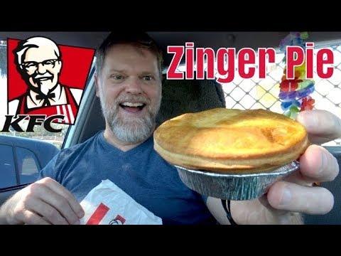 KFC Zinger Pie Review - $5 Zinger Pie And Chips Mukbang