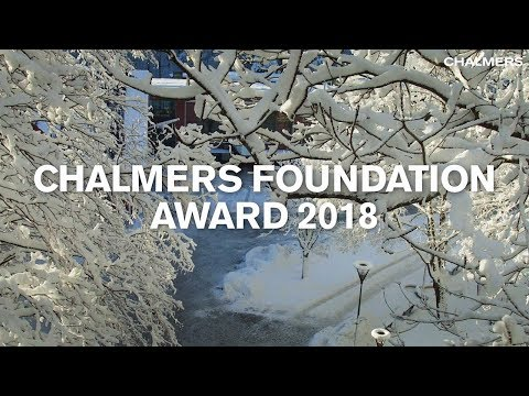 Chalmers foundation award 2018