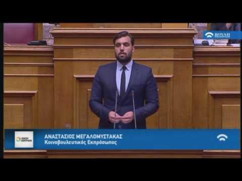 Α. Μεγαλομύστακας / Ολομέλεια Βουλή / 29-11-2016