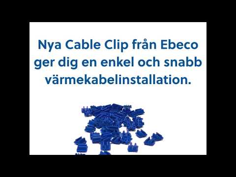 Cable Clip unik värmekabeklämma för rotnät