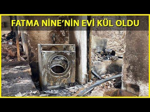 Alevler 90 Yaşındaki Fatma Nine'nin Evini Yaktı