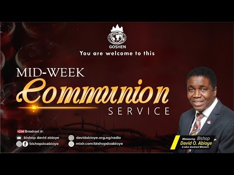 MIDWEEK COMMUNION SERVICE -  SEPTEMBER 23. 2020